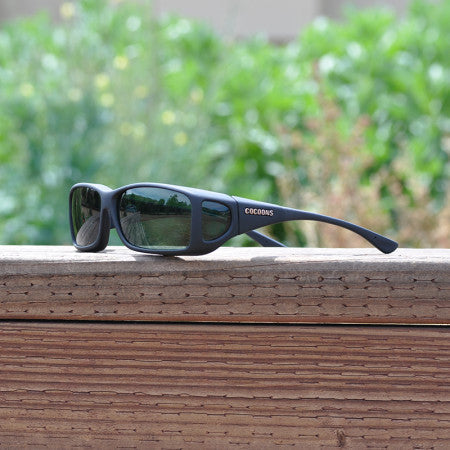 Cocoons Wide Line Black Gray Sunglasses