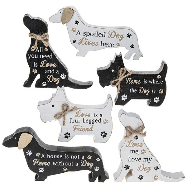 Standing Dog Plaque - 6 designs available