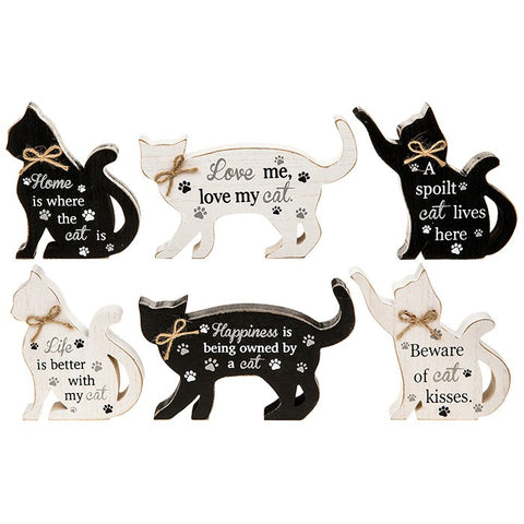 Standing Cat Plaque - 6 designs available