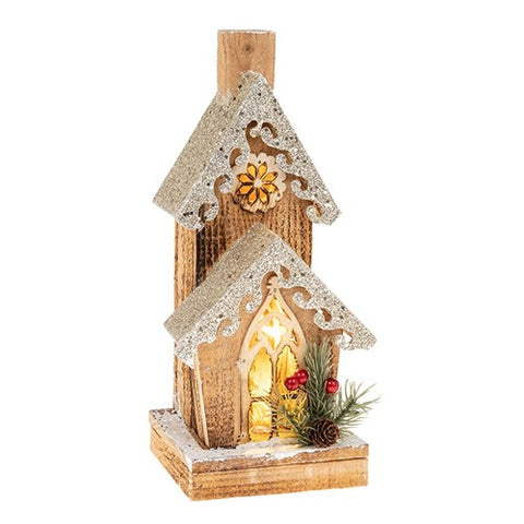 Cosy Tall Christmas Light Up House