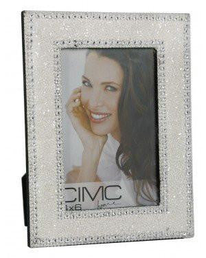 White Glitz Glitter And Beads Photo Frame 6 x 4