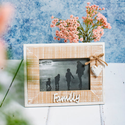 Rustic Heart Family Photo Frame