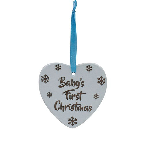 Baby's First Christmas Hanging Heart