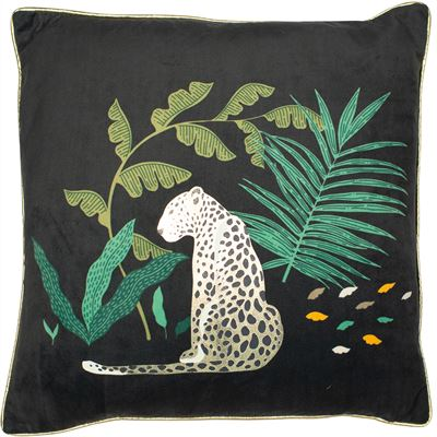 Leopard In Jungle Cushion