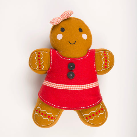 Dolly Gingerbread Girl Christmas Cushion