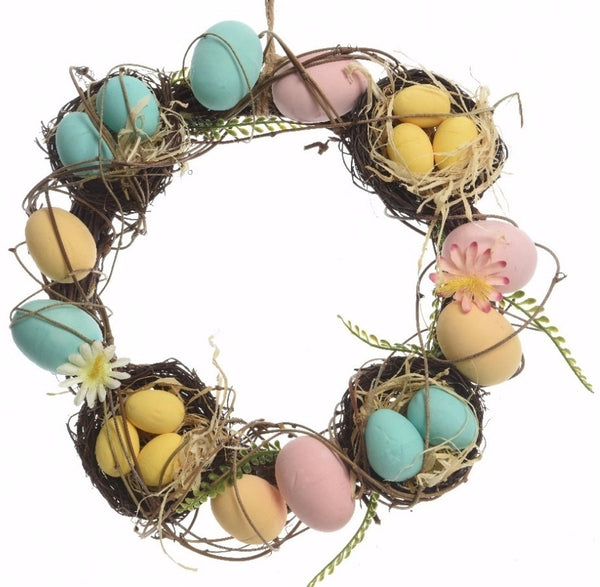 Easter Wreath with birds nests