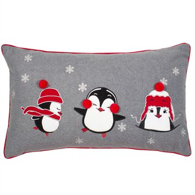 Pengiun Christmas Cushion