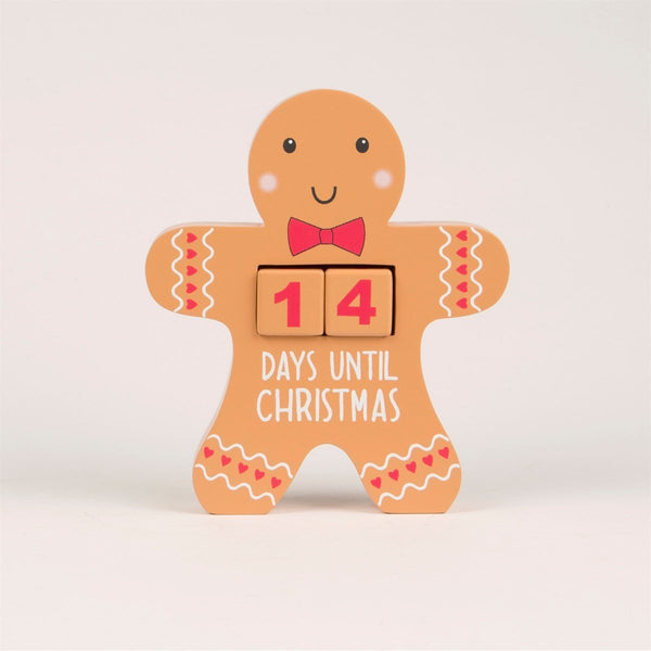 Gingerbread Man Advent Countdown Block