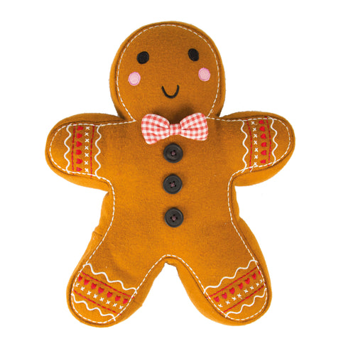 Roger Gingerbread Man Christmas Cushion