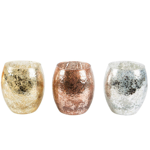 Christmas Crackle Tealight Holder