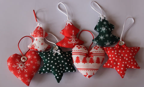 Handmade nordic style Christmas tree decorations