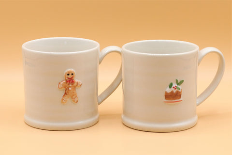 Ceramic Mini Mug - Gingerbread/Christmas Pudding
