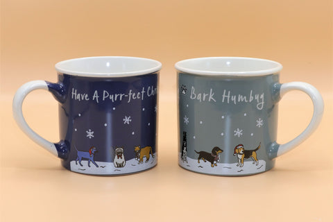 Bark Humbug / Have a Purrfect Christmas Mug
