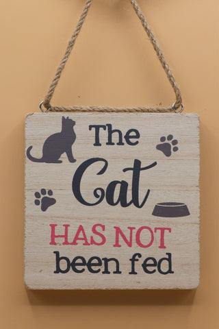 Chunky Hanging Cat Plaque