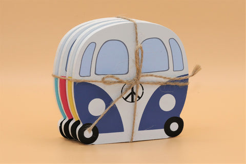 Set of 4 VW Camper Coasters