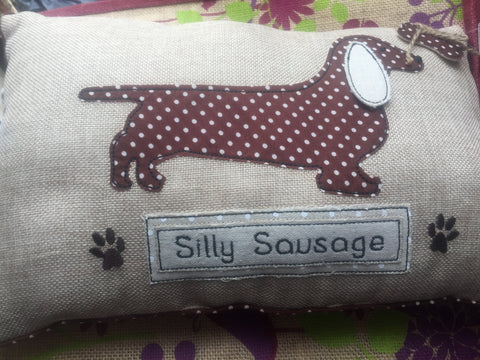 Silly Sausage Oblong Cushion