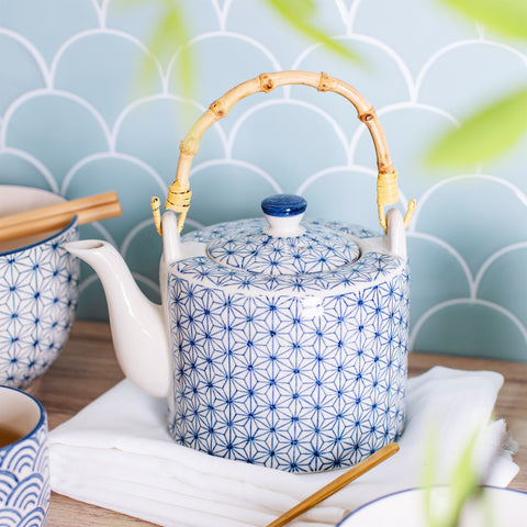 Sashiko Pattern Tea Pot