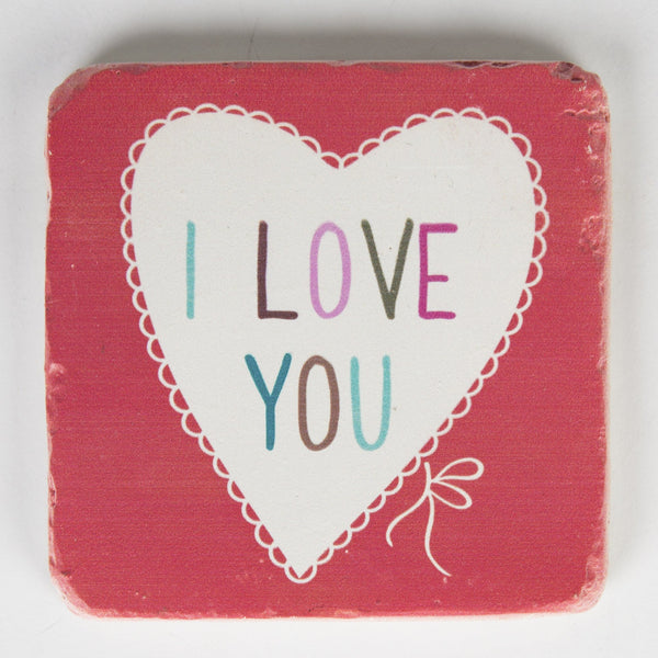 I Love You Lovely Sayings Coaster