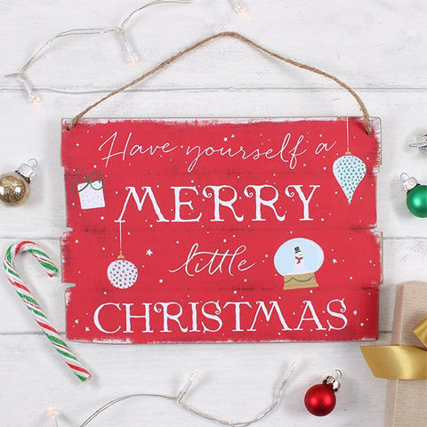 Wooden Christmas Plaque - 2 designs available
