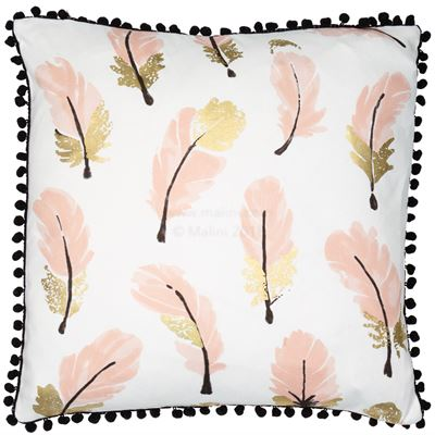 Pink Feather Cushion
