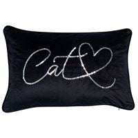 Black Velvet Cushion - 2 designs available