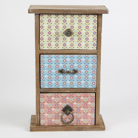 Summer retro daisy set of 3 drawers