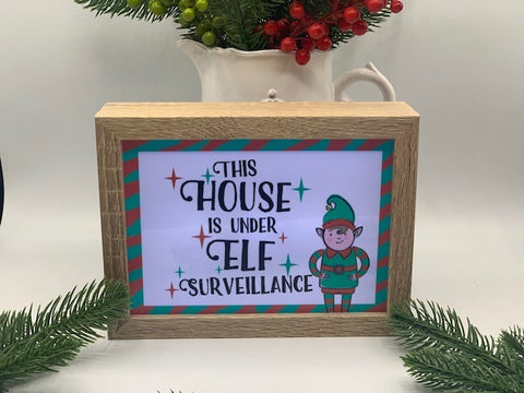 Light Up Elf Surveillance Sign
