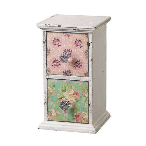Floral two drawer chest