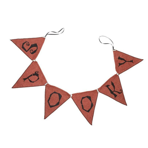 Orange spooky bunting