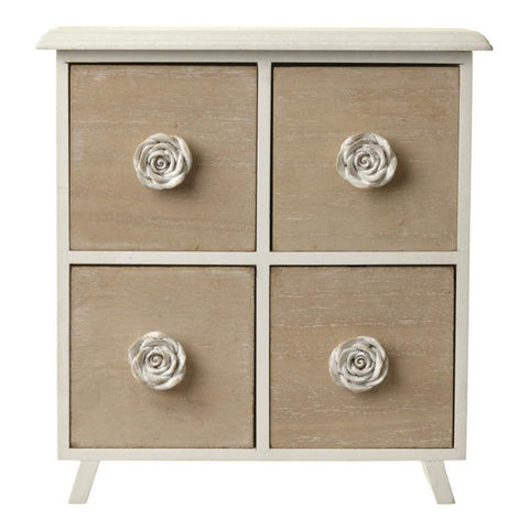 4 drawer cabinet with rose handles