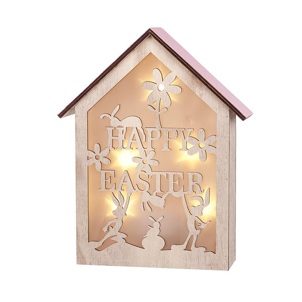 Light Up Wood Easter Box