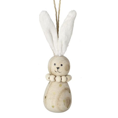 Wooden Hanging Bunny Easter Decoration