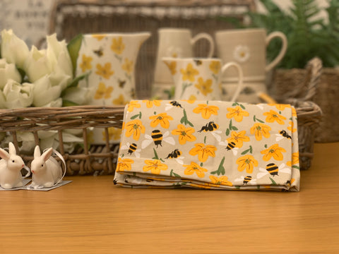 Bees & Buttercups Tea Towel