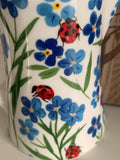 Ceramic Forget Me Not & Ladybird Jug - Small