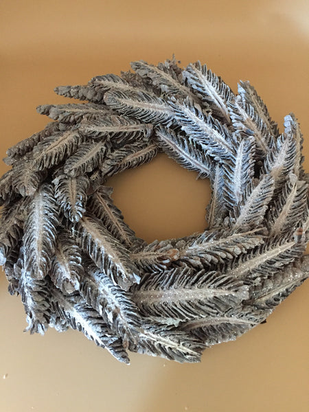 Round Silver & Grey Glittery Wreath