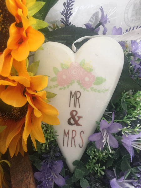 Ceramic Mr & Mrs Heart