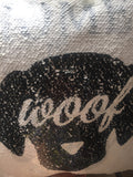 Home is Where the Dog Is Magic Sequin Cushion