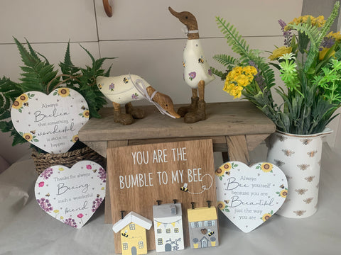 Bee Themed Hanging Hearts - 5 styles available
