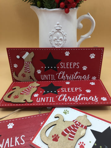 Pet Advent Countdown Hanging Signs