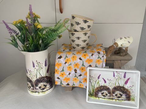 Mrs Tiggywinkle Hedgehog Jug & Mini Tray