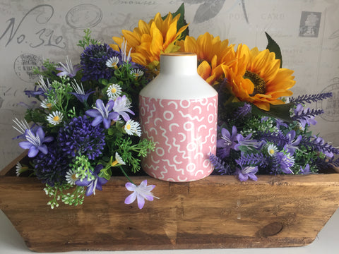 Small Pink & White Vase