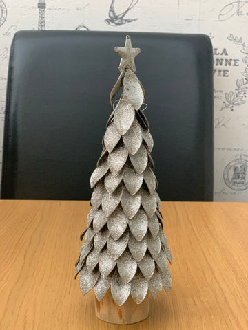 Silver Leaf Small Christmas Tree