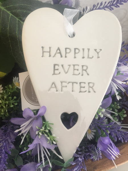 Ceramic Happily Ever After Heart