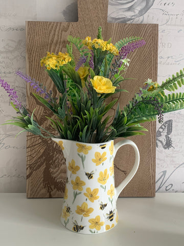 Ceramic Bees & Buttercups Jug - 2 sizes available