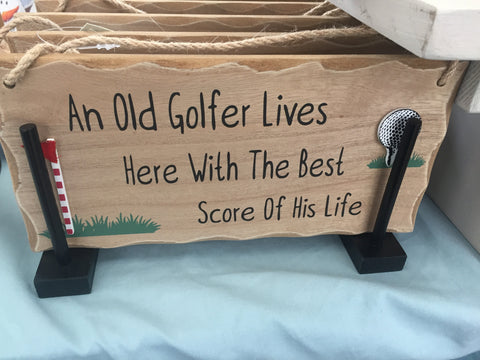 Wooden Golf Plaque