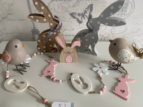 Pink & White Bunny Garland