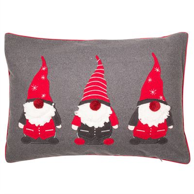 3 Gonks Christmas Cushion