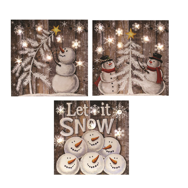Christmas Plaque with LED - 3 designs available