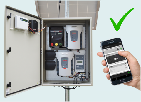JVA's Electric Fence Station comes with everything you need to effectively monitor your fence from your mobile phone!