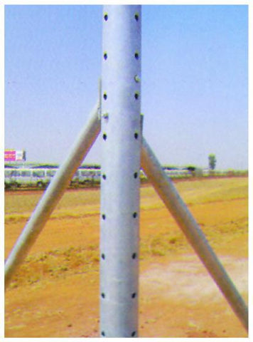 Corner Post 2mm thick -  HD Galv and drilled for S-Hook – Single holes - JVA Technologies - Electric Fencing - Agricultural Fencing - Equine Fencing - Security Fencing